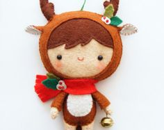 PDF pattern Cute Little Reindeer Felt Christmas von iManuFatti