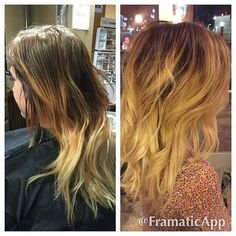 McKenzie tackled this color correction! And rocked it like the rockstar she is!!! McKenzie went through and broke up the harsh lines and blended it all with free hand #balayage and did a root color along #smudge inbetween. Turned out much softer and lighter :) #ombre #sombre #blondeombre #warmombre #colorcorrection #hairpainting #haircolor #colorist #utahhair #oremhair #stylist #btc #btcpics #modernsalon #Padgram