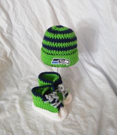Seattle Seahawks Football Inspired Crochet Baby by CDBSTUDIO
