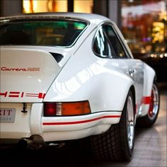 Porsche 911 Carrera RS. Rennsport! Maybe the greatest classic 911s of all time. Here, the widebody RSR for competition.