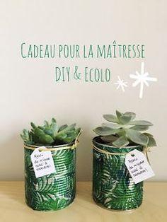 Une jolie plante pour la maîtresse et l'atsem Cadeau de fin d'année pour la maîtresse (DIY & Ecolo) . . . #cadeau #maitresse #maternelle #école #DIY #écolo #minimalist #minimalisme #jungle #plante #jungalow