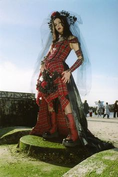 TOTAL punk rock wedding dress!