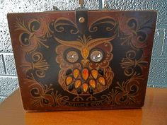 Love this - haven't seen it before and it's signed!!  Vintage Enid Collins Box Bag Purse Night Owl Rhinestone Collins of Texas RARE BIG. $200.00, via Etsy.