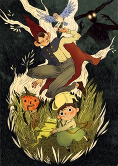 by ntamarit : Well, I finally saw Over The Garden Wall and I'm absolutely in love. I've been days singing that frog's song! So here's some fanart.