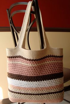 Ravelry: Textured Mesh Tote pattern by Cathy Phillips