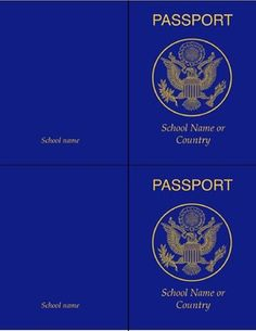 A+passport+template+for+teaching+about+travel,+foreign+languages,+cultures,+countries+etc.+