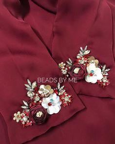 شوفي كيفاش ختارو الألوان في أشكال من التنبات رائعة وكتحمق   تنبات العقيق Embroidery On Kurtis, Kurti Embroidery Design, Hand Embroidery Videos, Bead Embroidery Patterns, Embroidery Fashion, Hand Embroidery Designs, Embroidery Dress, Ribbon Embroidery, Velvet Dress Designs
