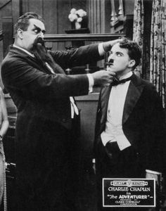 """Eric Campbell & Charlie in """"The Adventurer"""" 1917"""