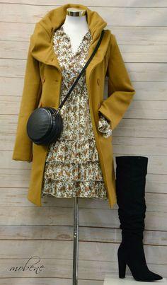 Tunika und Mantel in goldenen Herbstfarben Overall Jumpsuit, Shorts, Mantel, Girls, Raincoat, Tops, Jackets, Fashion, Sequin Shirt
