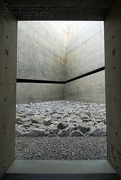 Visions of an Industrial Age // ChiChu Art Museum on Naoshima Island in Japan designed by Tadao Ando - Sara Rrenja - Pineagle Minimalist Architecture, Japanese Architecture, Sustainable Architecture, Architecture Details, Landscape Architecture, Interior Architecture, Ancient Architecture, Amazing Architecture, Landscape Design