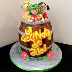 Doña Florinda, El Chavo y La Chilindrina #birthdaycake #cake #fondant #fondantcake #elchavo #elchavoanimado #elchavodel8 #customcake #donaflorinda #lachilindrina