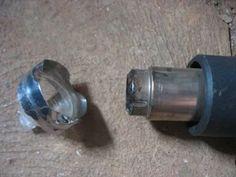Foto: Bico concentrador feito com bocal de lâmpada dicróica e chapa em aço…