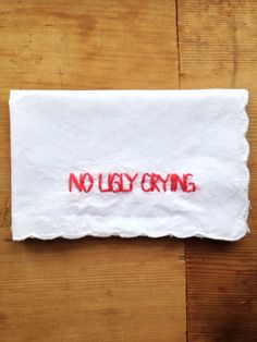 Funny bridesmaid gift - embroidered handkerchief - see more ideas on http://themerrybride.org/2014/04/04/friday-finds-from-etsy-com-the-quirky-edition/
