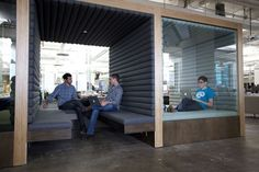 Work booths. Open huddle room & quiet immersive room- San Francisco Office.