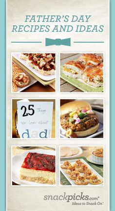 Father's Day Recipes and Ideas
