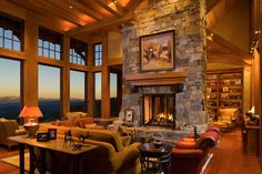 Yep, that confirms it. I want a giant stone fireplace and floor to ceiling windows with either a mountain and/or lake view.