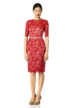 Red Lace Dress - Cocktail at Maggy London Girls Dress Up, Dress Me Up, Trendy Dresses, Lace Dresses, Yes To The Dress, Red Lace, Playing Dress Up, Dress Skirt, Beautiful Dresses