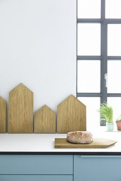 cutting boards that create a Copenhagen roof top skyline in your kitchen!