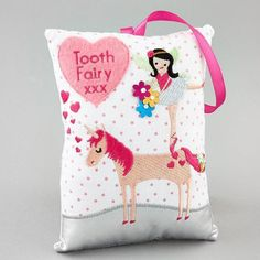 Tooth Fairy Pillow Lady Beetle Gift Lost Tooth Pocket Keepsake Cushion Birthday Baby Keepsakes, Memory Books