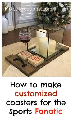 Diy Gift Idea for the Sports Fanatic, how to make sports fan coasters, Homemade tile coasters for sports fans Recycled Paper Crafts, Upcycled Crafts, Repurposed, Upcycled Home Decor, Handmade Home Decor, Upcycled Furniture, Diy Projects On A Budget, Diy Craft Projects, Diy Crafts