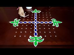 Dot Rangoli: 9x9 dots | Bhogi Kundala Muggulu || Easy Pongal Pot rangoli designs - YouTube
