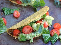 These crunchy tacos have a mediteranian flair with avocado-feta guacamole and…
