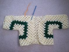 Tina's Crochet Page- This is a blog where I keep all my patterns: Hexagon Baby Sweater
