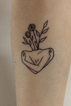 Self love tattoo - Tatts - Minimalist Tattoo Mini Tattoos, Little Tattoos, Body Art Tattoos, Small Tattoos, Sleeve Tattoos, Heart Tattoos, Pretty Tattoos, Unique Tattoos, Cool Simple Tattoos