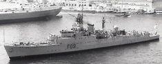 """Photograph Royal Navy. HMS """"Troubridge"""" Destroyer & Frigate. At Malta. c 1950s"""