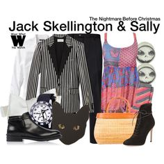 Inspired by Chris Sarandon & Catherine O'Hara (voices) as Jack & Sally in Tim Burton's 1993 stop animation film The Nightmare Before Christmas.