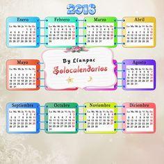 Calendarios para Photoshop: Plantilla base para calendarios del 2016 para Phot...