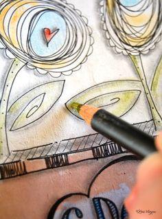 elvie studio--simple but do-able art journal entries