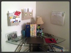 my desk in the living room   creative life designs