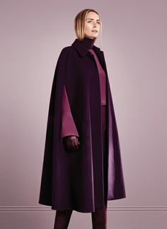 Rich purple cape.... with careful styling this could be a classic item for the wardrobe Hobbs AW16