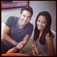 Ryan Guzman & Kylie Bunbury - Now this is funny the real cast member of upcoming #jemthemovie (he's playing Rio) and my dreamchoice for Shana Elmford