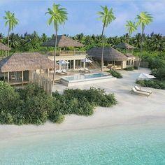 Two-Bedroom Ocean Beach Villa with Pool at Six Senses Laamu, Maldives. Vacation Places, Dream Vacations, Vacation Trips, Vacation Spots, Places To Travel, Les Philippines, Maldives Resort, Maldives Vacation, Best Resorts
