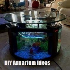 Aquarium Feature On Coffee Table Design Ideas - savillefurniture