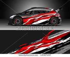 Car wrap, Truck and cargo van decal design vector. Graphic abstract stripe racing background kit designs for wrap vehicle, race car, rally, adventure and livery Car Decals, Vinyl Decals, Sticker, Cargo Van, Unique Cars, Design Competitions, Rally Car, Car Wrap, Cool Cars
