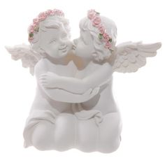 Cherubs are a popular range of products for all ages. We have an extensive collection of designs including decorative ornaments, tealight holders and oil burners.These items are made from resin so are durable and can go outside in very sheltered areas, however the paint finishes can be damaged by frost and snow so we recommend them for indoor use only.Dimensions: Height 11.5cm Width 13cm Depth 6cm
