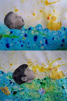 Photo collage dans mon bain