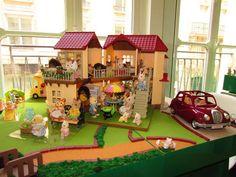 La grande maison éclairée des #SylvanianFamilies par #papapanique. #Jouet #enfant #parents