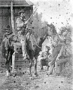 Company G, Mississippi Cavalry, supposedly Pvt. Alonzo Greer sitting on the… American Civil War, American History, Southern Heritage, Civil War Photos, Le Far West, Us History, Historical Photos, Civilization, Holly Springs