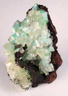 ~ Calcite and Aurichacite - Mina Ojuela, Mapimi, Mexico