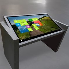 The adjustable view multitouch table by @idesigncafe has been featured in TV shows and in auto showrooms around the world.