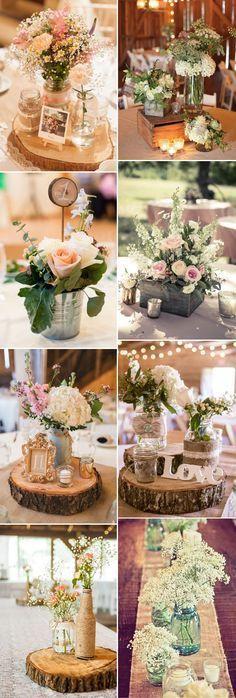 creative rustic wedding centerpieces ideas