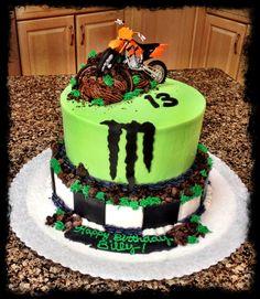 Dirt bike monster energy cake