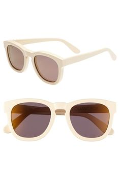 Free shipping and returns on Wildfox 'Classic Fox - Deluxe' 52mm Sunglasses at Nordstrom.com. A keyhole bridge accentuates the retro appeal of bold, mirrored-lens sunglasses finished with subtle logo inlays at the temples.
