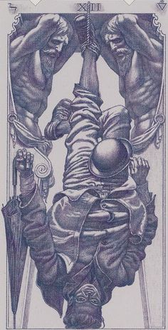 The Hanged Man - Tarot of the III Millennium -- If you love Tarot, visit me at www.WhiteRabbitTarot.com