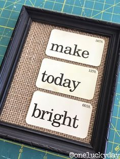 Uses Tim Holtz Flash cards.....One Lucky Day: Make Today Bright
