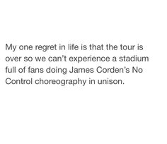 Omg this needs to happen. Anyone that doesn't do it is either a new fan or a fake fan.